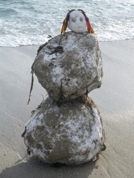 Monster from the deep: a snowmaid washed up in Falmouth