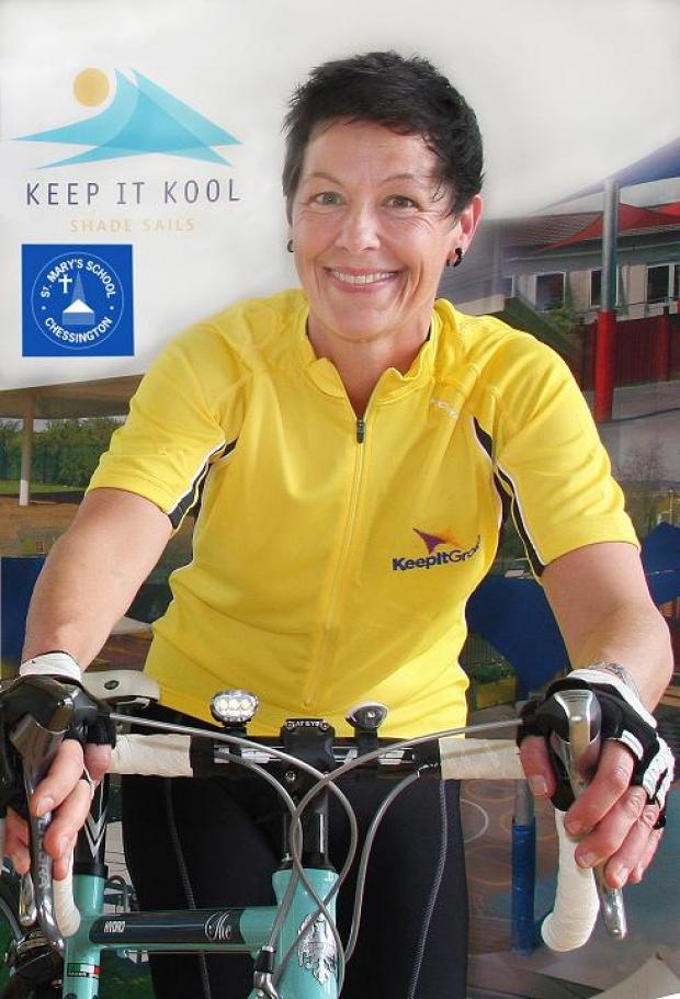 Chessington mum on 500 mile cycle to buy school sun-shades