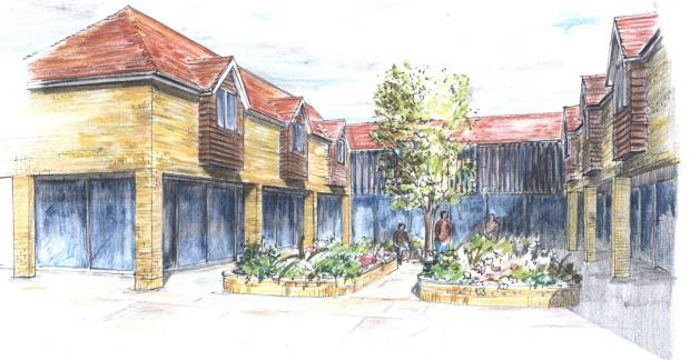 The courtyard and sensory garden for our residents.