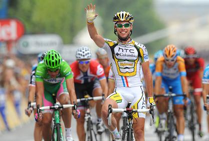 Mark Cavendish winning the 20th stage of the Tour