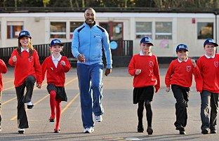 Olympic hurdler visits Carshalton primary school