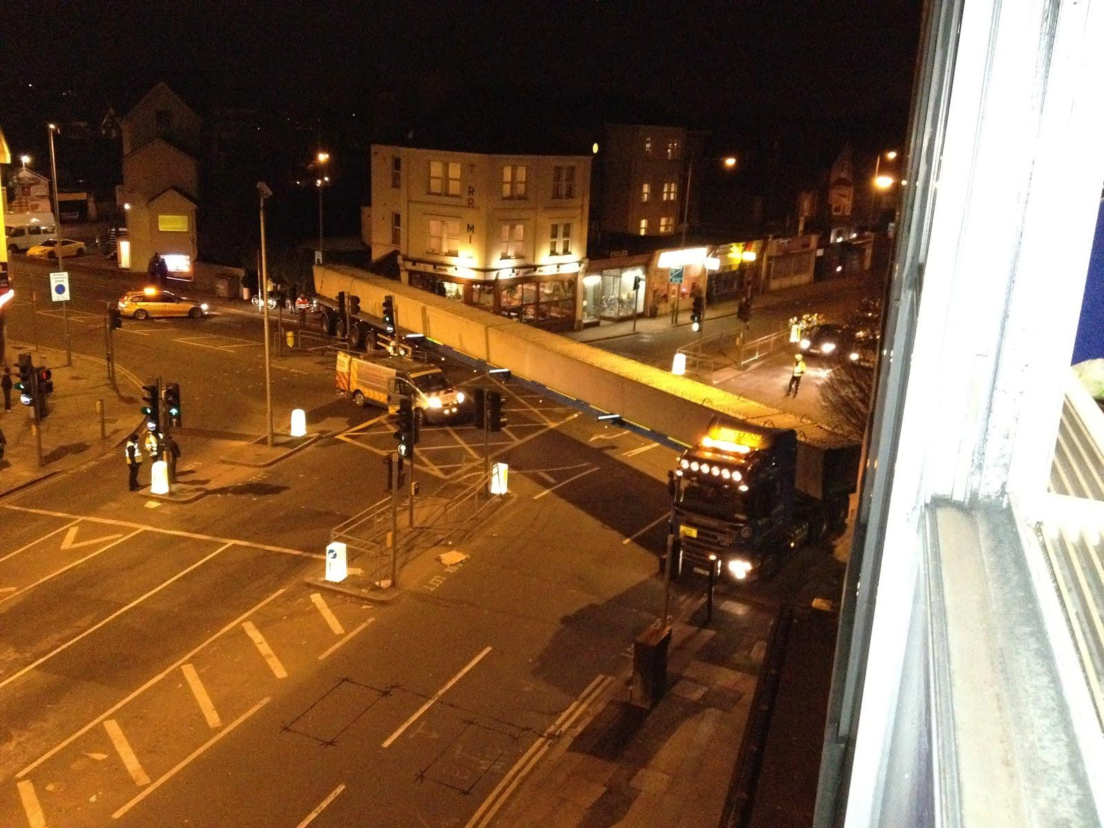 Giant lorry finally freed in Kingston