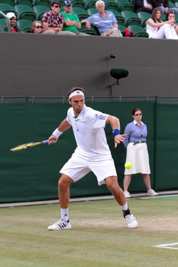 On form: Ross Hutchins