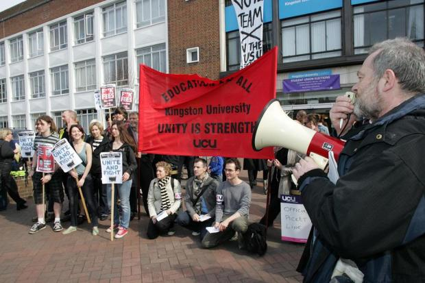 Kingston University strike in 2011