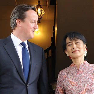Burma sanctions call by Cameron