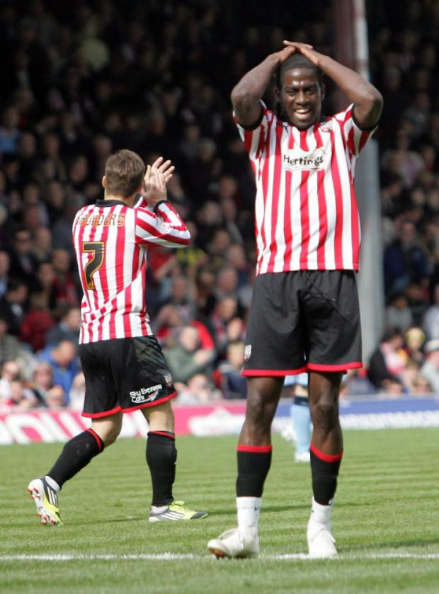 Frustrated: Brentford's Clayton Donaldson