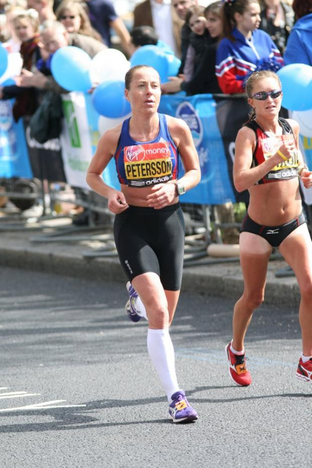Nominated: Jess Draskau-Petersson at the London Marathon last month