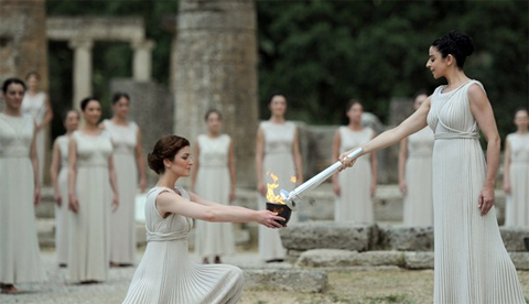 The Olympic flame was lit in Greece earlier this year