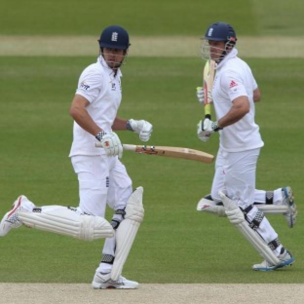 Alastair Cook (left) and Andrew Strauss