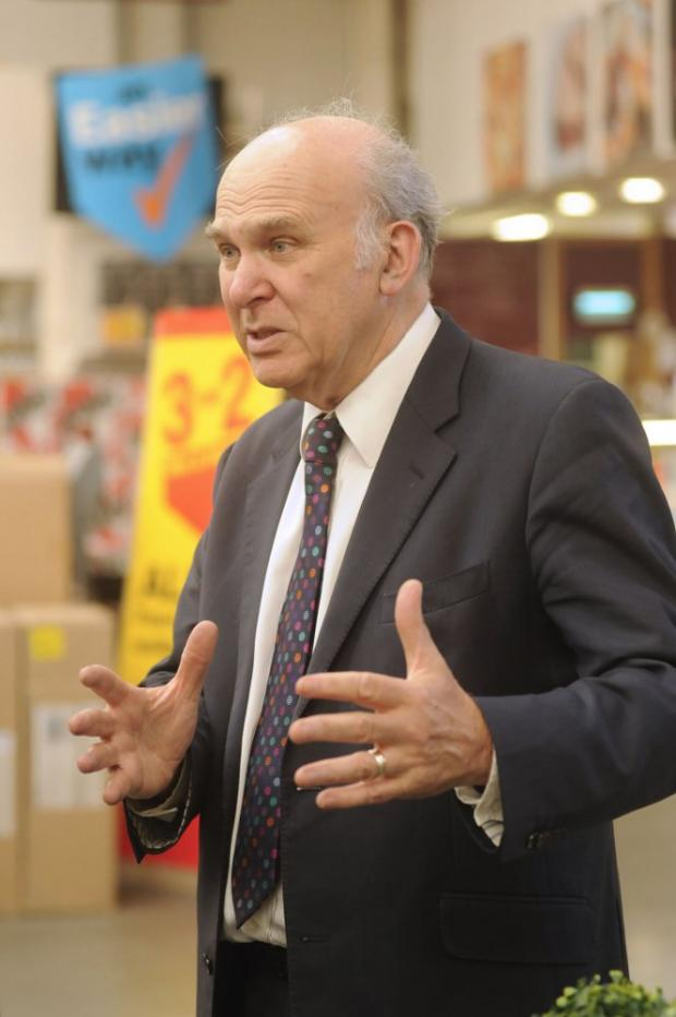 Business Secretary Vince Cable looks to drum up more business for Sutton