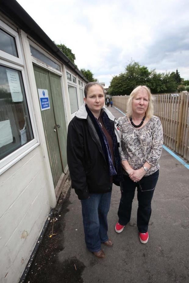 Councillors Rachel Reid ((left) and Tricia Bamford say the pool should not be lost to Chessington