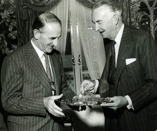 Sydney Camm and Tom Sopwith in 1953, the year both were knighted