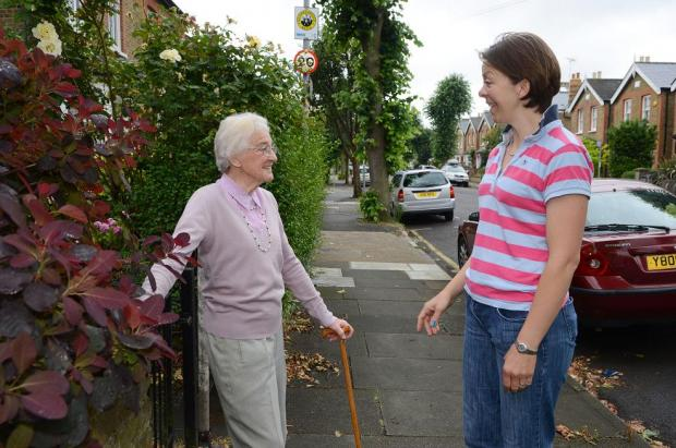 Nicola Duffey (right) with neighbour Doreen Hunter