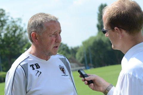 Fighting talk: Terry Brown speaks to Wimbledon Guardian reporter Tim Ashton 	Deadlinepix WI69443