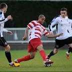 Shield: Wade Small keeps possession for Kingstonian in the cup final defeat to Bromley      SP75603