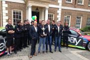 Distant memory: Colin Turkington and West Surrey Racing celebrate their British Touring Car Championship success at eBay's offices in Richmond in October