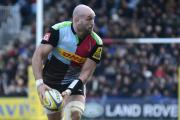 Fond farewell: Lock George Robson could have been unemployed next season had a move to Oyonnax not materialised