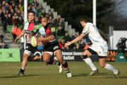 Troubled: Quins centre Jordan Turner-Hall continues to be blighted by the hip problem he had surgery on last season