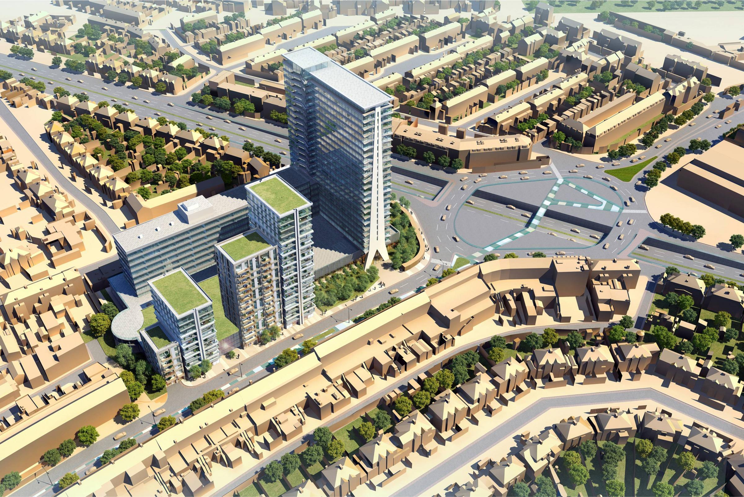 ... Four new tower blocks proposed as part of Tolworth Tower regeneration