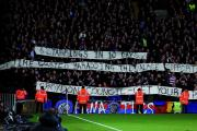 Leave us be: Holmesdale fanatics get their message across at Selhurst Park
