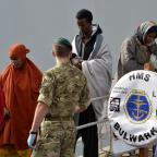 Kingston Guardian: Migrants have been rescued and taken to Italy by HMS Bulwark (Ministry of Defence/PA)