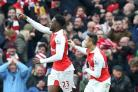 Danny Welbeck, left, came off the bench to score the winner