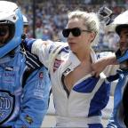 Kingston Guardian: Lady Gaga goes for a drive with Mario Andretti at the Indy 500