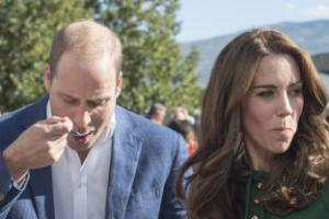 William and Kate face up to culinary challenge of geoduck on Canada tour