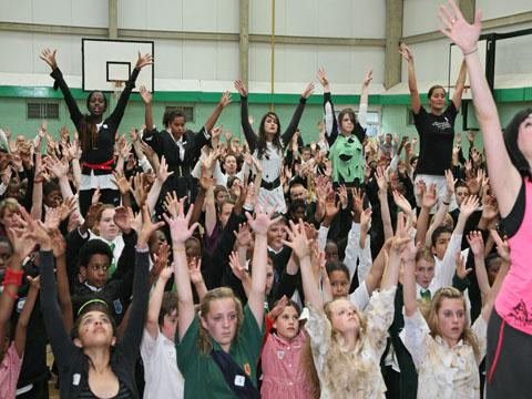 Croydon school kids attempt Michael Jackson world record dance off